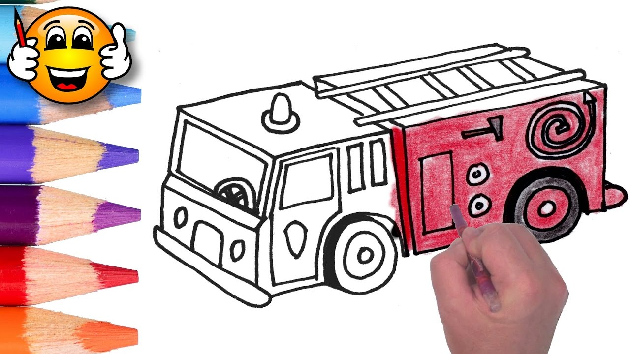 coloring pages for kids fire truck fire engine coloring for kids bibabibo