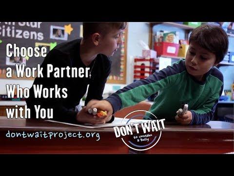 """Choose a Work Partner Who Works with You"" - Antibullying PSA Saratoga, NY - DON'T WAIT to UnMake™"