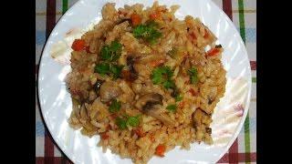 Постный рис с овощами. Lean rice with vegetables