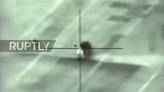 Syria: Israeli military release footage of airstrike on Syrian anti-aircraft battery