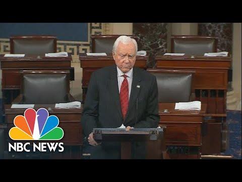 Orrin Hatch Warns Senate Is In Crisis In Farewell Speech | NBC News