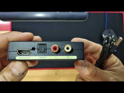 ZMT0425 HDMI To Optical SPDIF RCA L / R Toslink Audio Converter - BLACK