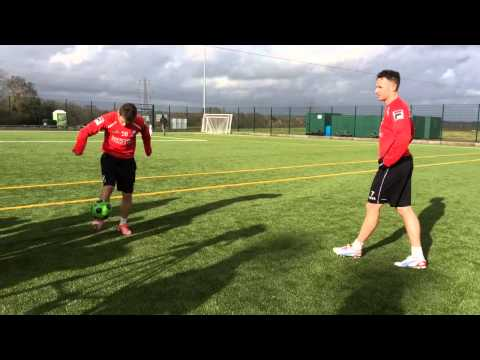 Ryan Fraser tries to out-skill Marc Pugh