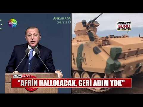 """Erdoğan: """"Afrin hallolacak, geri adım yok"""""""