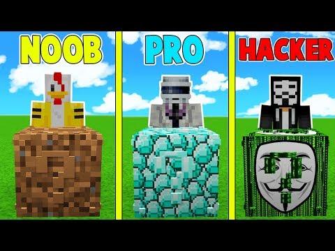 ¡LUCKY BLOCK NOOB VS LUCKY BLOCK PRO VS LUCKY BLOCK HACKER 😱! - MINECRAFT