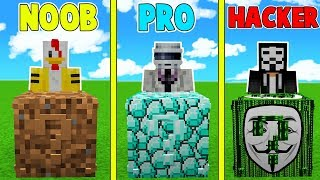 ¡LUCKY BLOCK NOOB VS LUCKY BLOCK PRO VS LUCKY BLOCK HACKER 😱! - MINECRAFT