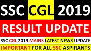IMPORTANT - SSC CGL 2019-2020 TIER I (PRE) RESULT UPDATE|SSC CGL 2019-2020 TIER I RESULT LATEST NEWS