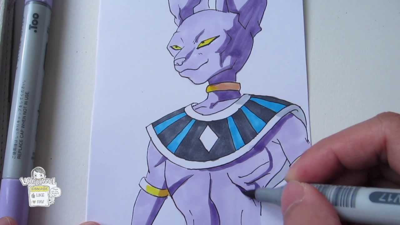 How To Draw Beerus God Of Destruction ビルス Youtube
