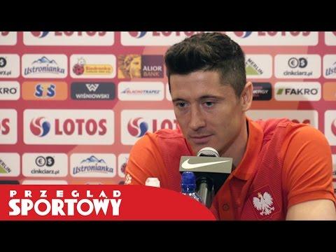 Robert Lewandowski przed meczem Czarnogóra - Polska