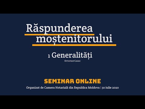 Raspunderea mostenitorului (1 — Generalitati) (MD)