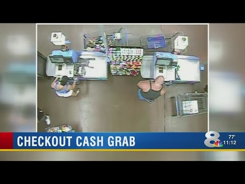 VIDEO: Police look for self-checkout thieves who stole