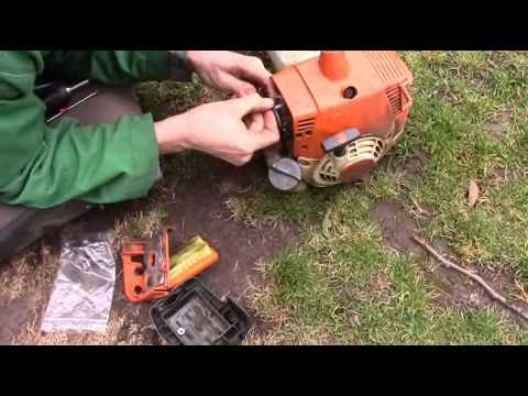 Stihl fs 300 350 f kasza toppers repair youtube for Comparatif debroussailleuse stihl husqvarna