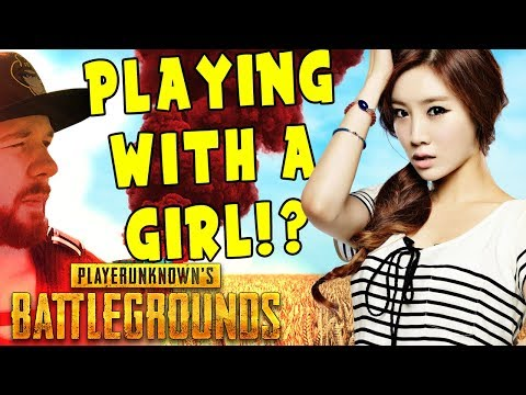 PUBG | PLAYING WITH A GIRL?! 🍗🐔 (with chat) | PlayerUnknown's Battlegrounds Gameplay