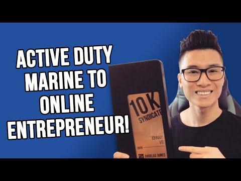 Active Duty Marine To Online Entrepreneur
