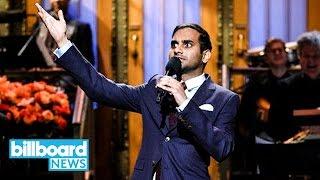 Chris Brown Fires Back at Aziz Ansari's 'SNL' Monologue Comparing Him to Trump | Billboard News