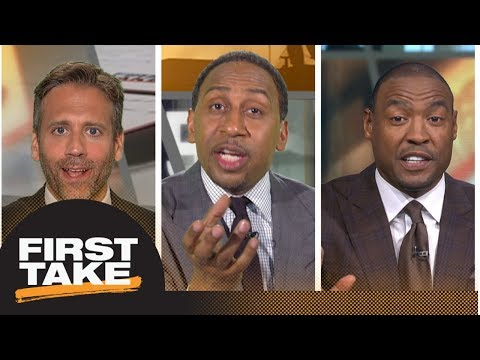 Stephen A., Darren Woodson roast Max for his Tom Brady prediction | First Take | ESPN