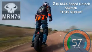 Ninebot Z10 - Z10 MAX SPEED UNLOCK TO 56km/h TESTS REPORT