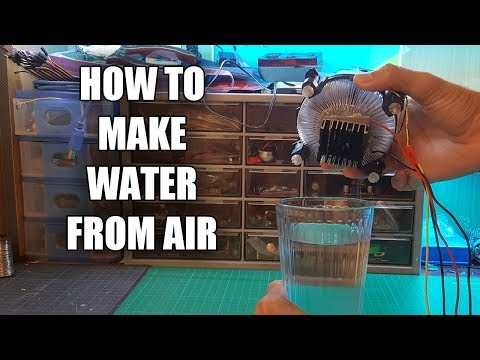 How to make water from air