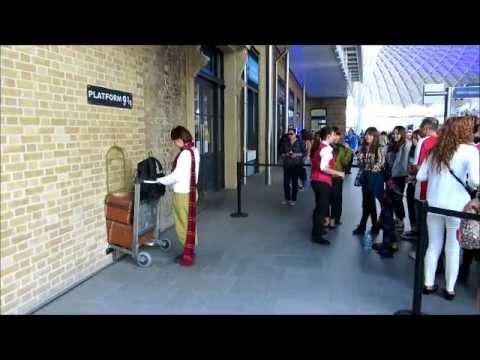 Harry Potter Platform 9 3/4 At Kings Cross Station London