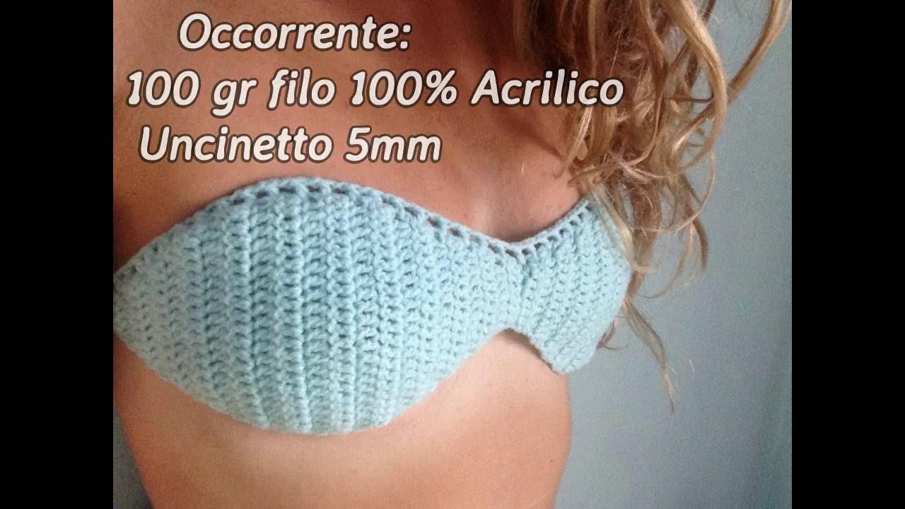 Bikini A Fascia Alluncinetto Come Fare Passo Passo 6 Crochet
