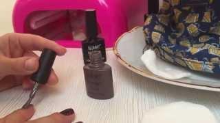 Маникюр на короткие ногти // Покрытие ногтей гель-лаком в домашних условиях