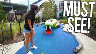CRAZY ONE OF A KIND MINI GOLF COURSE AT UNIVERSAL STUDIOS!