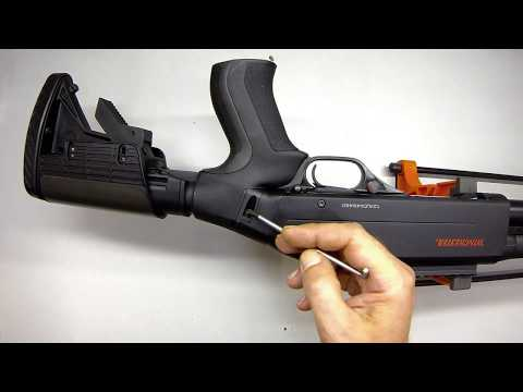 Removing the ATI stock from a WINCHESTER SXP EXTREME DEFENDER to disassemble gun for cleaning.