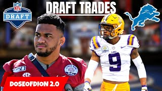 3 REALISTIC Draft Trades For The Lions! Trading Back? Detroit Lions Talk