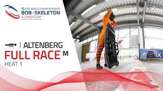 Altenberg | BMW IBSF World Championships 2021 - Men's Skeleton Heat 1 | IBSF Official
