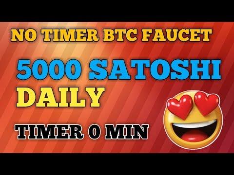 EARN 5000 SATSOHI PER DAY || NO TIMER BITCOIN FAUCET || EARN FREE BITCOIN