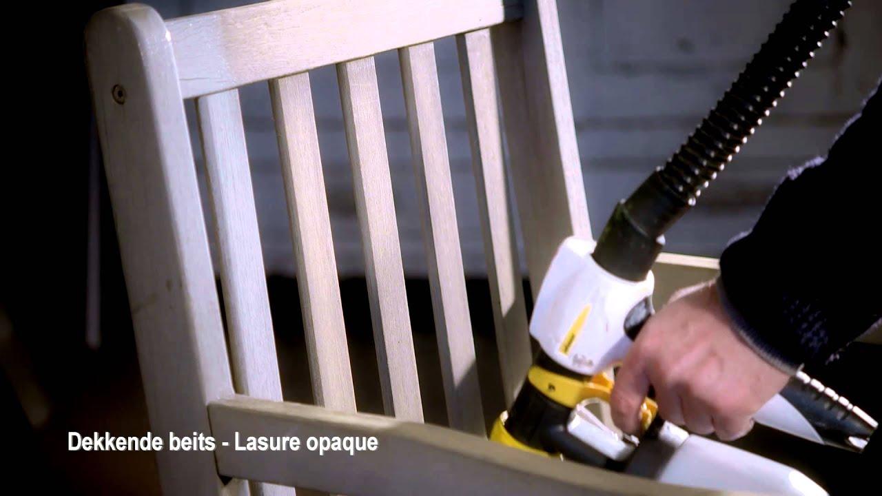 entretenir des meubles de jardin avec un pistolet peinture youtube. Black Bedroom Furniture Sets. Home Design Ideas