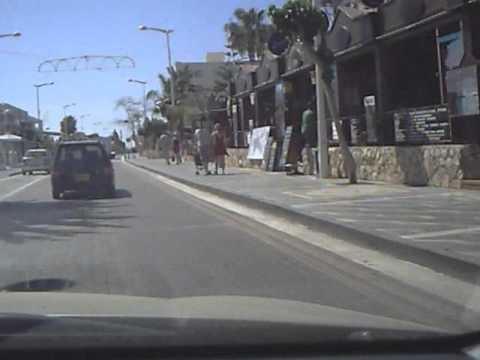 driving down protaras main strip cyprus to fig tree bay  YouTube