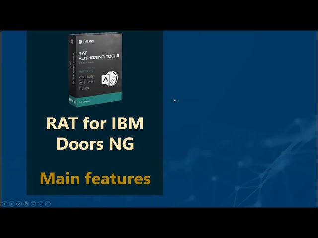 RAT – Authoring Tools: a widget for IBM DOORS Next Generation to strengthen requirements authors