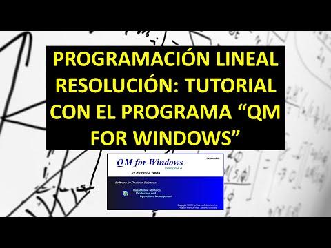 Tutorial Programación Lineal Con El Programa QM For WINDOWS POM-QM