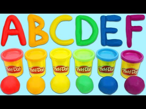 LEARN ABC's Alphabet with Play Doh Shape and Learn Letters Playset!