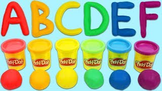 LEARN ABC's Alphabet with Play Doh Shape and Learn Letters and Language Play Dough Playset!