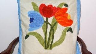 Aula de apliquê em tecidos – Almofada em apliquê da Flor I