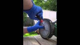 How to sharpen push mower blade
