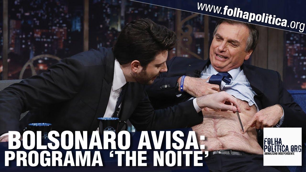 Presidente Bolsonaro avisa sobre participação no programa The Noite, de Danilo Gentili, no SBT