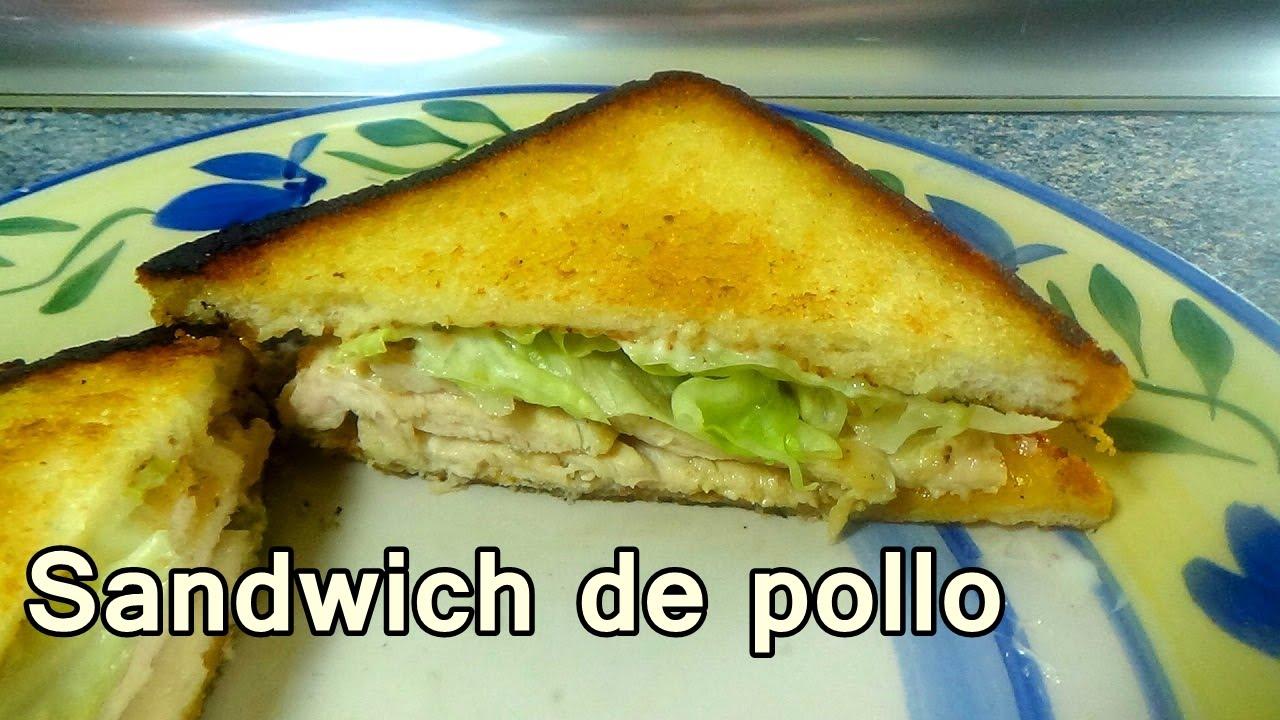 Sandwich de pollo muy facil recetas de cocina faciles y for Comidas rapidas de preparar