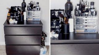 part 1 makeup organization   ikea kullen dresser muji acrylic drawers