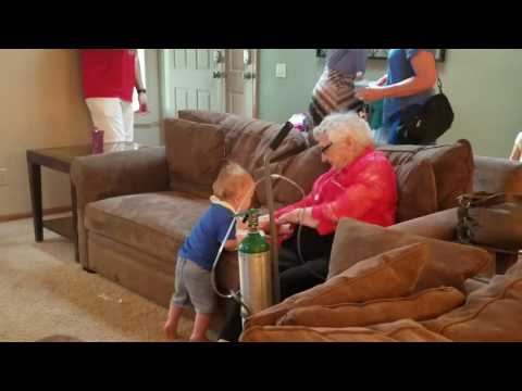 Great Grandma Klockeman passing 99 years of Love to Finley.