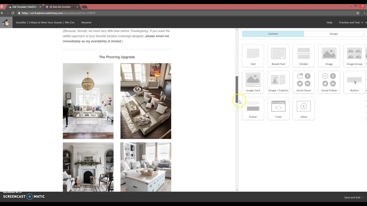 Home Staging Marketing How To Use Edit MailChimp Newsletter - How to use mailchimp templates