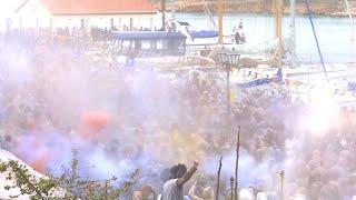 'Flour War' Fighters Pelt Each Other for Clean Monday Celebration thumbnail