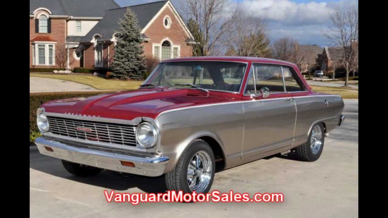 1965 chevy nova custom classic muscle car for sale in mi vanguard motor sales youtube. Black Bedroom Furniture Sets. Home Design Ideas
