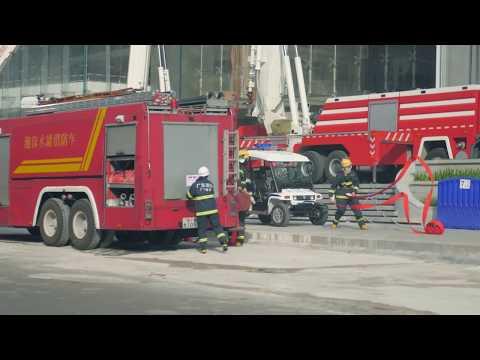 JTT  T60 participating in Guangzhou Firefighting Drill