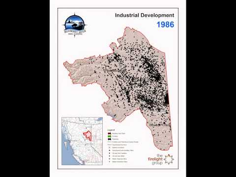 Blueberry River First Nations - Industrial Development Change Over Time