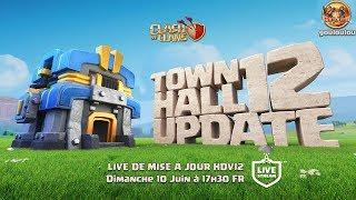 TOURNOI HDV12 5v5 | 100 000 GEMMES A GAGNER | LIVE de MISE A JOUR | Clash of Clans