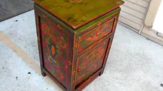 Tibetan Color Painted Side End Table S2016m