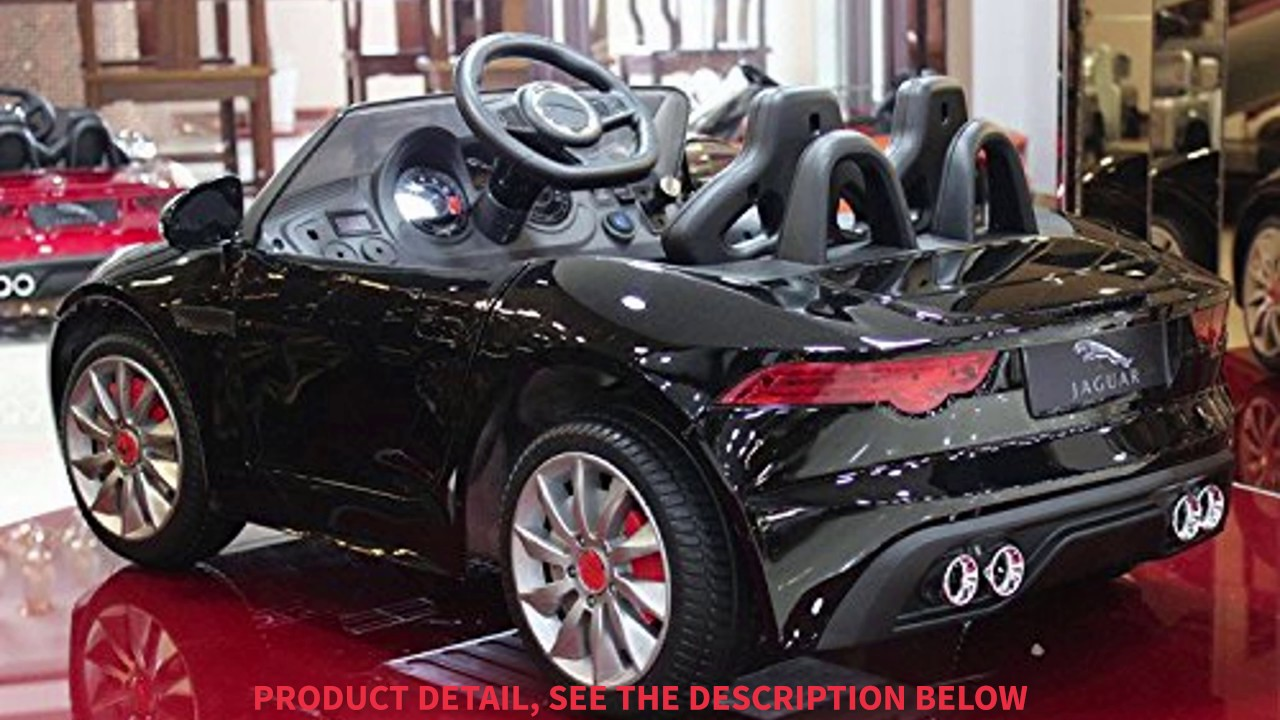 Jaguar F TYPE 12V Kids Ride On Battery Powered Wheels Car With 2.4GHz RC  Remote, Black
